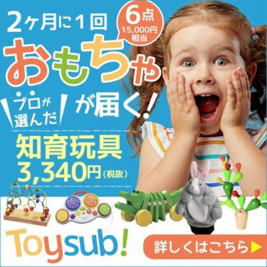息をのむ【トイサブ!】知育玩具の定額レンタルサービス(子供の年齢でカスタマイズ)