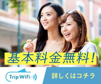 胸をキュンとさせる【Trip Wifi】基本料金無料で国内外で使えるお手軽WiFi