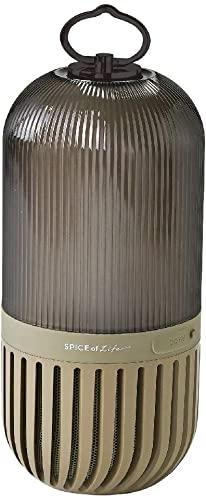 ここぞという時のSPICE OF LIFE(スパイス) ゆらぎカプセルスピーカー カーキ Bluetooth 防塵 防水 LED 充電式 CS2020KH