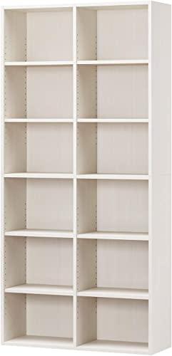 白井産業ラック 本棚 ホワイト 白木目 約 幅90 奥行30 高さ180 cm (AMZ-1890WH)、これはいい