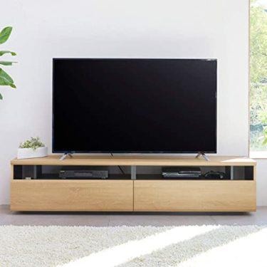 失われた白井産業 大型テレビ台 50から60インチ対応  ラモリア RAM-4018H NA ナチュラルブラウン 幅180cm